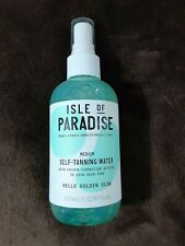 NEW Isle of Paradise Self-Tanning Water In Medium-Golden Glow 6.76 oz Full Size