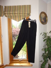 Nero mozzafiato Mix Di Lino Pantaloni da dentro fuori, Taglia nel Regno Unito, RRP £ 58,New con etichette