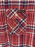 Enyce Mens XL Button Up Plaid Shirt Western Cowboy