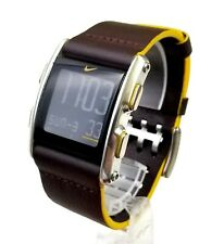 "RARE,UNIQUE Unisex DIGITAL Watch NIKE WC0065 "" Torque "". Brown Leather Band."