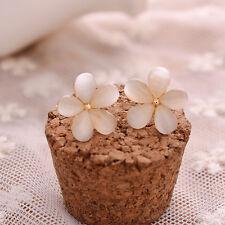 Women's Elegant Opal Flower Gold Plated Ear Stud Earrings Fashion Jewelry Gift