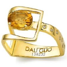 Daliglio Womens Size 7 Citrine Gold plated Sterling Silver Ring