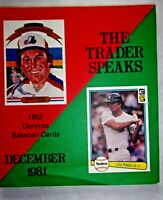 December 1981 The Trader Speaks Baseball Cards Sports Memorabilia Magazine