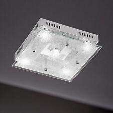WOFI lámpara LED de techo Brooks 5 LLAMAS Cromado Vidrio Plano 25 vatios 2080