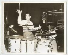 Vintage 1940s Jazz Drummer Gene Krupa at the Drums Tossing His Stick Photo