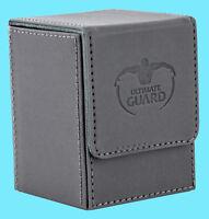 ULTIMATE GUARD XENOSKIN FLIP DECK CASE Standard Size GREY 100+ MTG Game Card Box