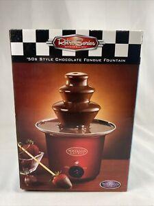 New Retro Series Nostalgia Electrics 50's Style Chocolate Fondue Fountain