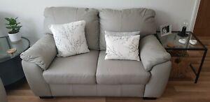 Argos grey leather milano Sofa's & chair