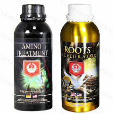 House and Garden Roots Excelurator & Amino Treatment Hydroponics 1 Liter Bundle
