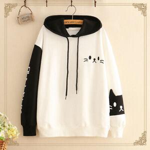 Kawaii Clothing Cute Ropa Hoodie Harajuku Sweatshirt Sudadera Cat Face Sweater