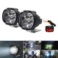 2pcs Car Motorcycle Bike Waterproof LED External Fog Light Headlight Lamp 12V