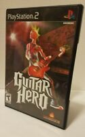 Guitar Hero -  Playstation 2 PS2 video game COMPLETE CIB * RedOctane