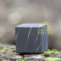 Shungite Cube Unpolished Various of Size Made of Natural Russian Stone Tolvu