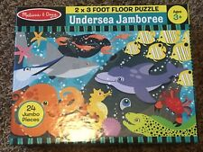 EUC Melissa & Doug Floor Puzzle Undersea Jamboree 24 Pieces 2'x3'