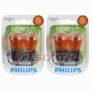 2 pc Philips Front Side Marker Light Bulbs for Ford Aerostar Cougar Crown cc
