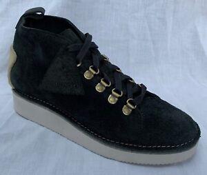 BNIB Clarks Originals Ladies Nala Hike Black Suede Ankle Boots
