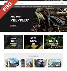 Fully Stocked SURVIVAL Dropshipping Website Business | FREE DOMAIN & MARKETING