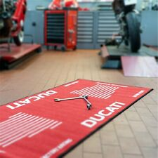 Biketek Motorcycle Garage Ducati Carpet Rug Mat for Workshop or Wohung