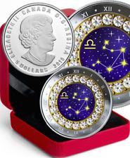 2019 Cancer Zodiac Series #7 $5 Pure Silver Coin with Swarovski Crystal Canada