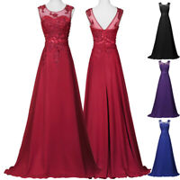 Clearance Vintage Long Wedding Ball Gown Evening Formal Party Bridesmaid Dress