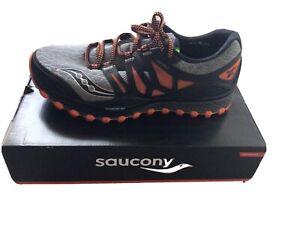 Saucony Mens Xodus ISO Gray/Orange Trail Running Shoes Sneakers 10.5 Medium (D)