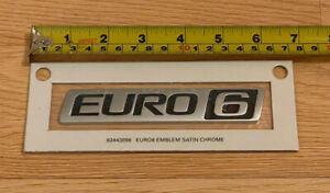 Volvo Euro 6 Satin Chrome Badge Euro6 Truck Coach Bus FH460 FH500 Emblem Genuine