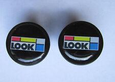 LOOK handlebar bike caps, LOOK Bike frame logo end plugs, LOOK Bike end caps