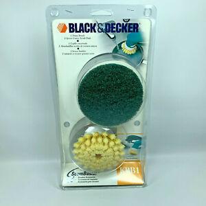 Black & Decker KBB1 ScumBuster Replacement Dome Brush & 2 Green Scrub Pads