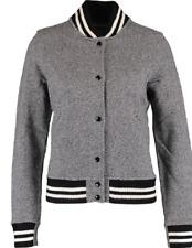 DENIM & SUPPLY Women's Grey Marl Baseball Jacket, size Large