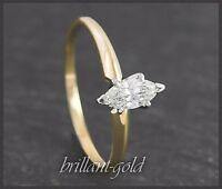 Diamant Damen Ring aus 585 Gold, Solitär 0,58 ct  Wesselton H, Weißgold/Gelbgold