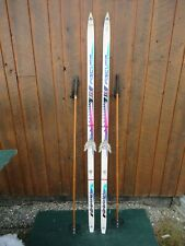 """GREAT Ready to Use Cross Country 71"""" FISCHER  185 cm Skis + Poles"""