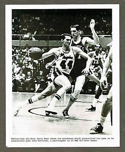 1963 NBA Basketball 8x10 Photo, Jerry West vs John Havlicek, All-Star Game #34