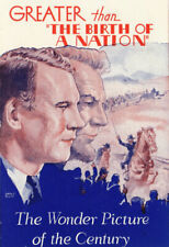 ABRAHAM LINCOLN - Vintage 1930 Silent Film D.W. GRIFFITH Original Movie Herald
