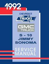 OEM Shop Manual Chevy Truck S-10 Models & Gmc Sonoma/Jimmy 1992