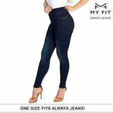 My Fit Jeans As Seen On TV Women's Stretch Denim Jeans Dark Wash New