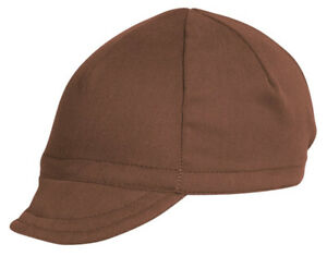 Pace Sportswear Euro Soft Bill Cycling Cap, Nutmeg - One Size