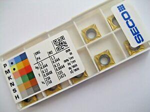 10 x SCMT09T304-F1 (SCMT 32.51-F1) CP500 SECO CARBIDE TURNING INSERTS  P185