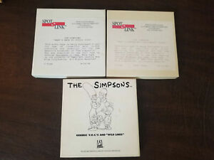 The Simpsons lot of 3 reel to reel tapes for radio promotional spots