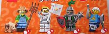 Lego 71011 Minifiguren Serie 15, Mann mit Kopfverband Gipsbein Krücken# 4 NEU