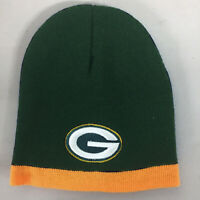 Green Bay Packers Short Beanie Skull Cap Hat Embroidered GB