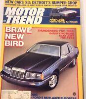Motor Trend Magazine Thunderbird Ford's Eurostar October 1982 072917nonrh