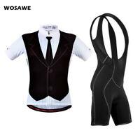 Men Cycling Jersey Sets MTB Bike Tops Bib Shorts Padded Summer Short Sleeve Kits