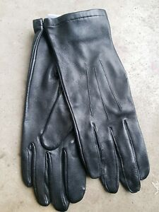 New British Army Leather Officers Gloves Black Mens GL Size 8  (Ref 1)