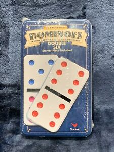 Collectors Dominoes Color Dot Double Six Tin Box Cardinal Brand NEW Sealed