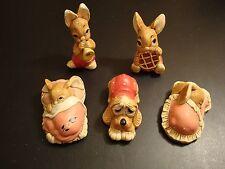 Delfin Rabbit Bunny Dog lot 5 Peeps Snuggles Phump picnic Midge Pooch stonecraft