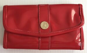 BareMinerals Red Cosmetic Brush Travel Pouch Storage Case Snap Closure Used
