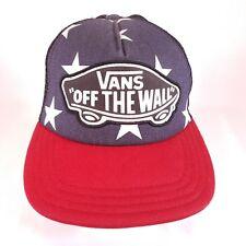 VANS OFF THE WALL CAP HAT SNAPBACK SKATEBOARD TRUCKER MESH american flag mesh h3