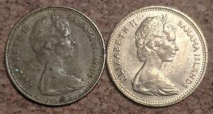 Bahamas 1 Cent 1966,1969 Coins