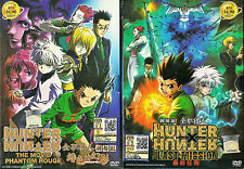 Hunter x Hunter 2013 The Last Mission and Phantom Rogue The Movie DVD Eng Subs