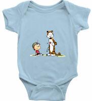 Gun Play Fun Best Friends Comic Tiger Calvin Hobbes Infant Baby Rib Bodysuit